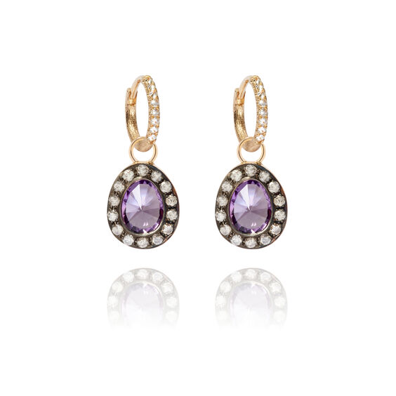 Dusty Diamonds 18ct Gold Amethyst Earrings | Annoushka jewelley
