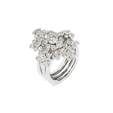 Marguerite 18ct White Gold Diamond Cocktail Ring