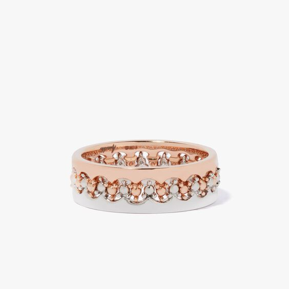 Crown Interlaced Ring Stack in 18ct Mixed Golds | Annoushka jewelley