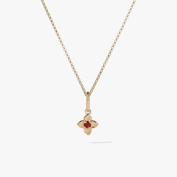 Tokens 14ct Gold Garnet Necklace | Annoushka jewelley