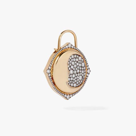 Lovelock 18ct Gold Diamond Moon Large Charm | Annoushka jewelley