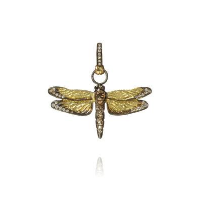 Mythology 18ct Gold Diamond Dragonfly Pendant