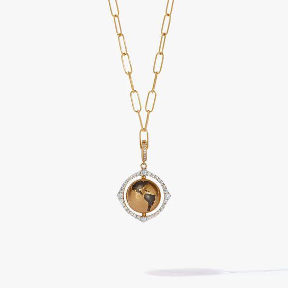 Mythology 18ct Gold Spinning Globe Mini Cable Necklace | Annoushka jewelley