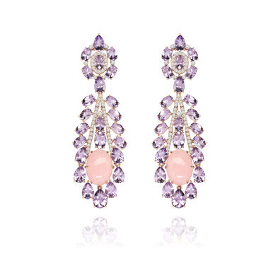Sutra Amethyst Opal Earrings