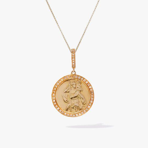 Mythology 18ct Gold Diamond St Christopher Necklace