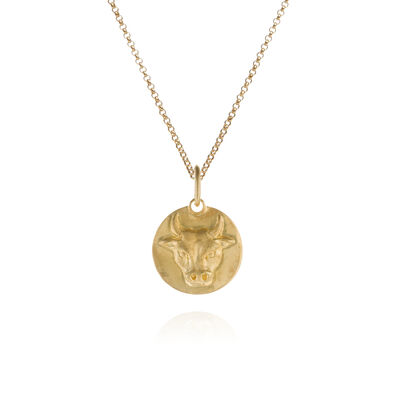 Mythology 18ct Gold Taurus Necklace