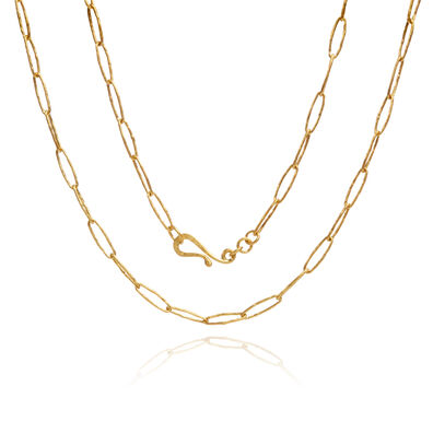 18ct Gold Organza Charm Necklace
