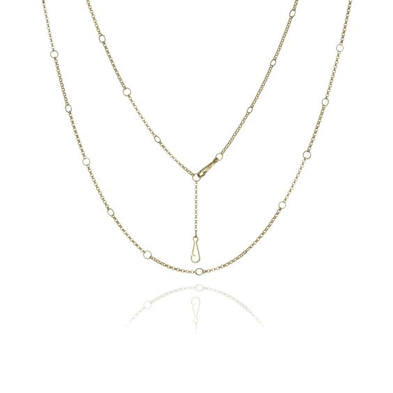 Hoopla 18ct Gold Short Chain | Annoushka jewelley