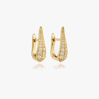 18ct Gold Diamond Hoop Earrings