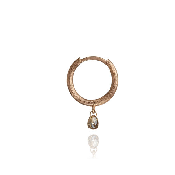Hoopla 18ct Rose Gold Diamond Hoop Earring | Annoushka jewelley