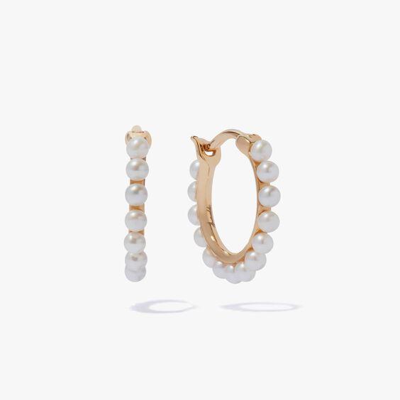 18ct Gold Pearl Hoop Earrings | Annoushka jewelley