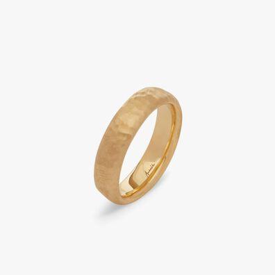 18ct Gold Organza 5mm Band Ring