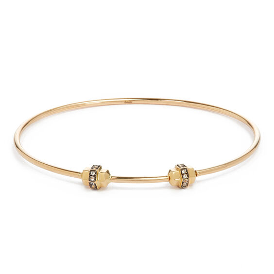 Mythology 18ct Gold & Sapphire Small/Medium Charm Bangle | Annoushka jewelley