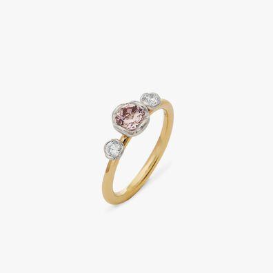 Marguerite 18ct Morganite & Diamond Engagement Ring