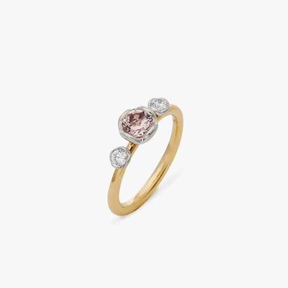 Marguerite 18ct Morganite & Diamond Engagement Ring | Annoushka jewelley