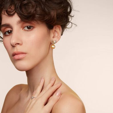 18ct Gold South Sea Pearl Earring Drops