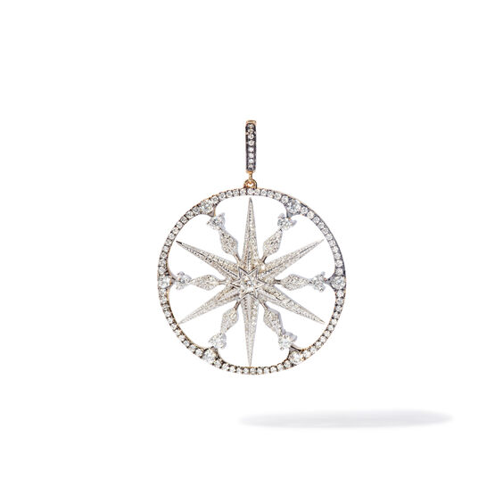 Mythology 18ct Mixed Gold Diamond Large Star Pendant | Annoushka jewelley