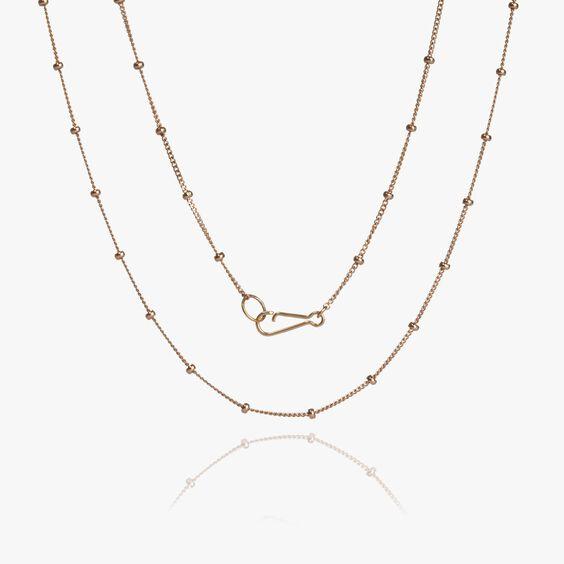 18ct Rose Gold Saturn Short Chain | Annoushka jewelley
