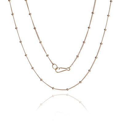18ct Rose Gold Saturn Short Chain