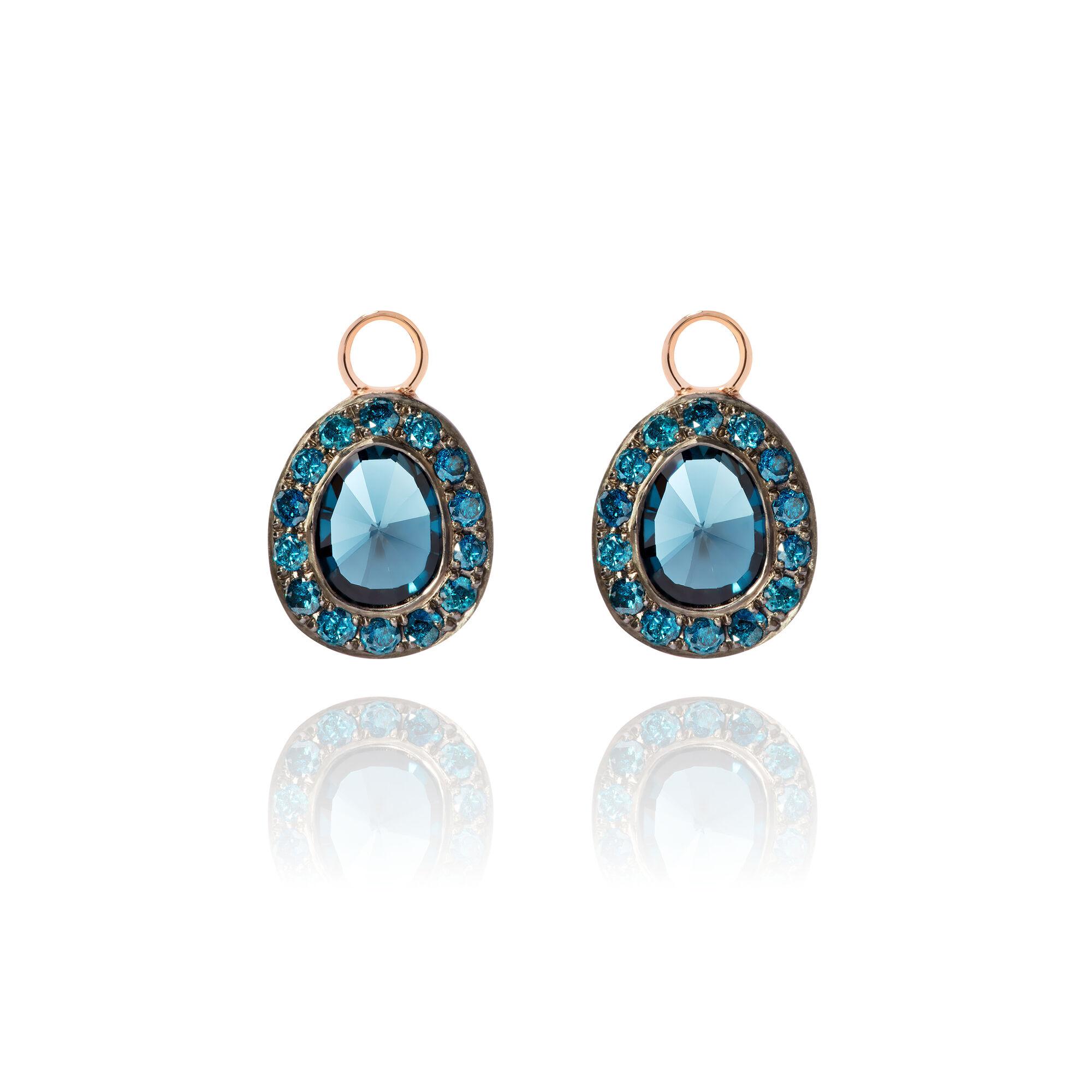 Dusty Diamonds 18ct Rose Topaz Earrings Annoushka Uk Annoushka Uk
