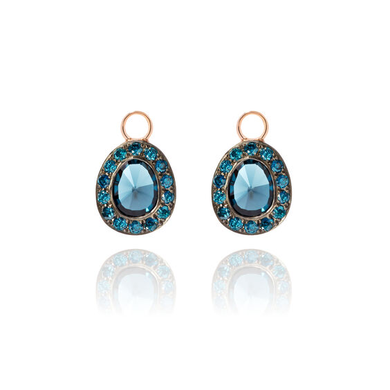 Dusty Diamonds 18ct Rose Gold Topaz Earring Drops | Annoushka jewelley