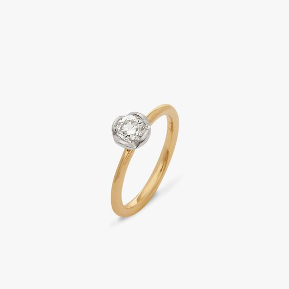 Marguerite 18ct Yellow & White Gold solitaire 0.50ct Engagement Ring