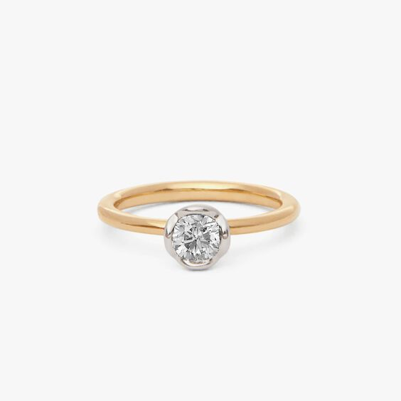 Marguerite 18ct Yellow & White Gold solitaire 0.50ct Engagement Ring | Annoushka jewelley