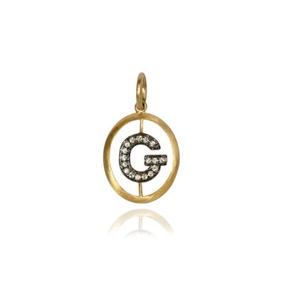 18ct Gold Diamond Initial G Pendant