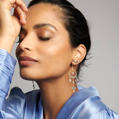 Love Diamonds 14ct Gold Solitaire Medium Stud Earrings