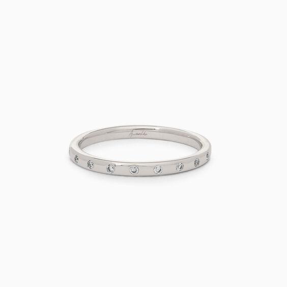 18ct White Gold Diamond 2mm Wedding Band | Annoushka jewelley