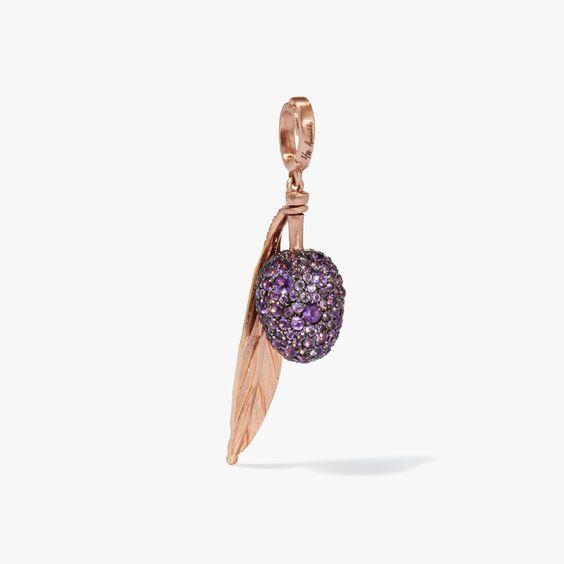 Mythology 18ct Rose Gold Amethyst Olive Seed Charm | Annoushka jewelley