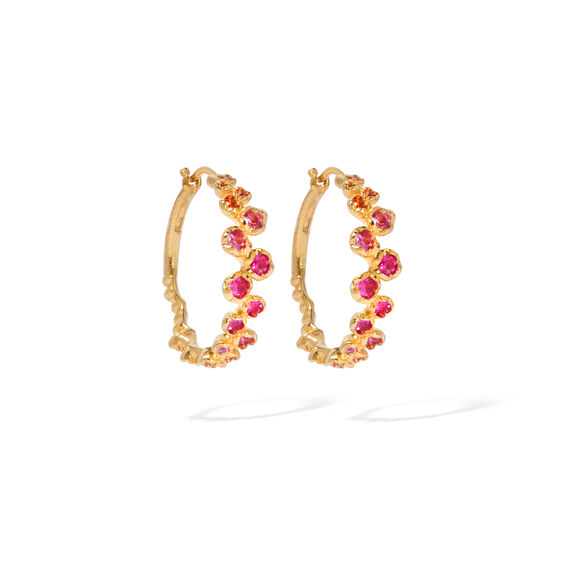 Hidden Reef 18ct Gold Sapphire Hoops | Annoushka jewelley