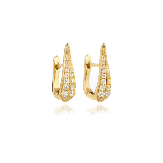 18ct Gold Diamond Hoop Earrings | Annoushka jewelley