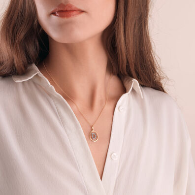 18ct Gold Diamond Initial D Necklace