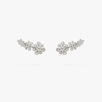 Marguerite 18ct White Gold Diamond Ear Pins