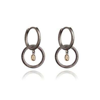 Hoopla 18ct White Gold Small Earrings