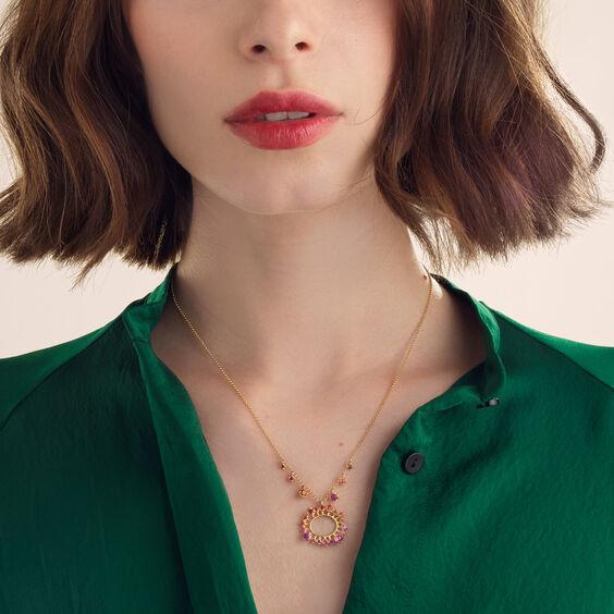 Hidden Reef 18ct Gold Sapphire Necklace