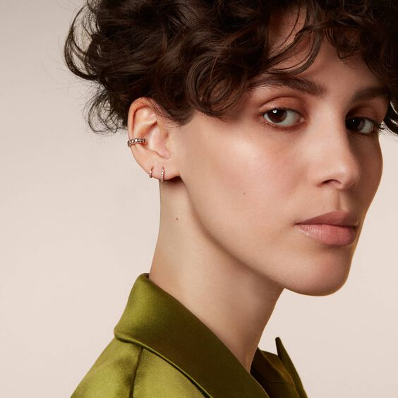 Dusty Diamonds 18ct Rose Gold Diamond Ear Cuff | Annoushka jewelley