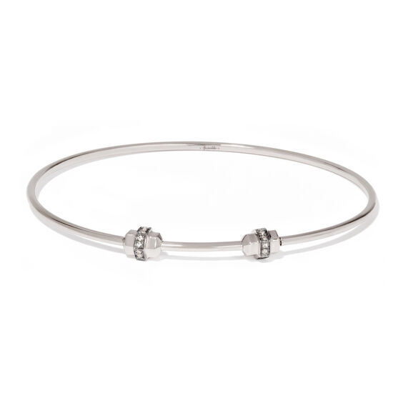 Mythology 18ct White Gold & Sapphire Small/Medium Charm Bangle | Annoushka jewelley