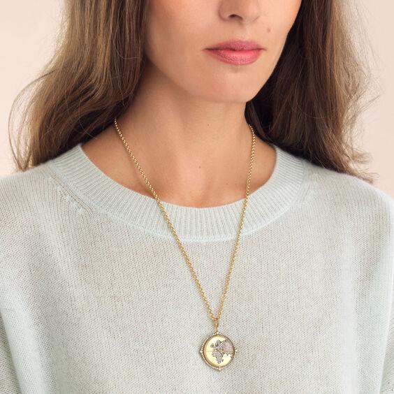 Mythology 18ct Gold Diamond Spinning Globe Necklace   Annoushka jewelley