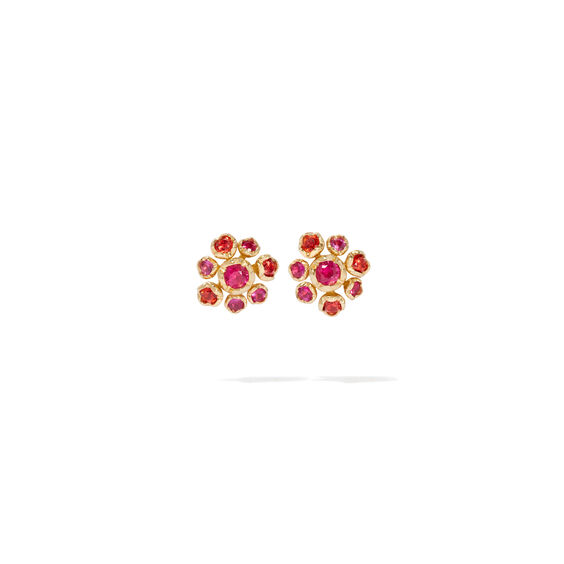 Hidden Reef 18ct Gold Sapphire Stud Earrings | Annoushka jewelley