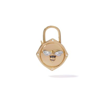Lovelock 18ct Gold Diamond Bee Charm