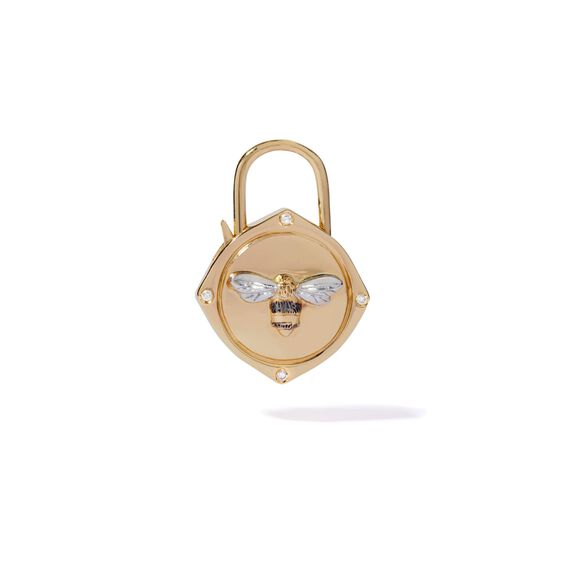 Lovelock 18ct Gold Diamond Bee Charm | Annoushka jewelley