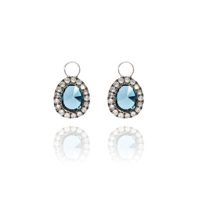 Dusty Diamonds 18ct White Gold Topaz Mini Earring Drops