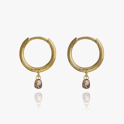 Hoopla 18ct Gold Diamond Hoop Earrings