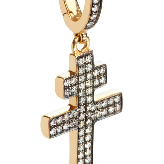 Touch Wood 18ct Gold Diamond Cross Charm