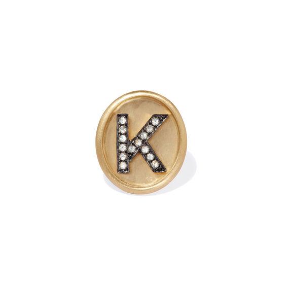 18ct Gold Diamond Initial K Face | Annoushka jewelley