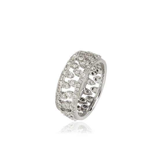 Crown Interlaced Ring Stack in 18ct White Gold | Annoushka jewelley