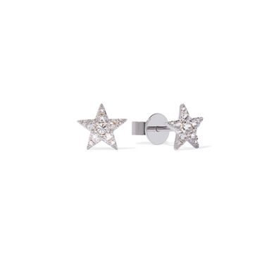 Love Diamonds 18ct White Gold Diamond Star Studs