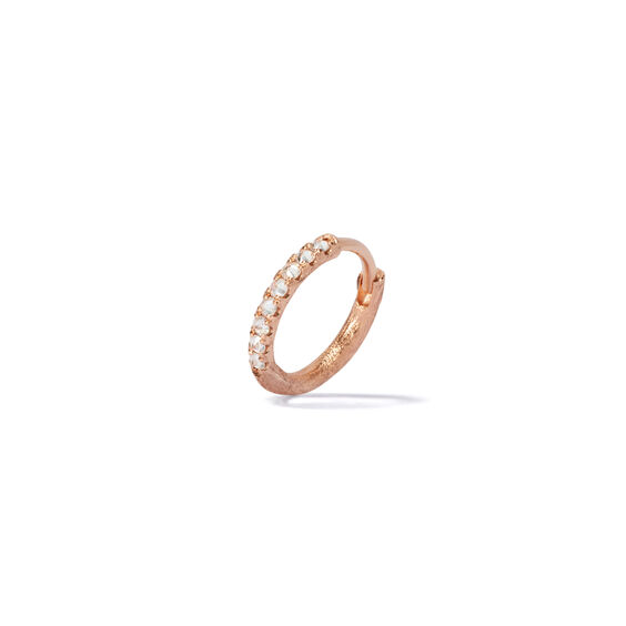 Dusty Diamonds 18ct Rose Gold Diamond 12mm Hoop | Annoushka jewelley